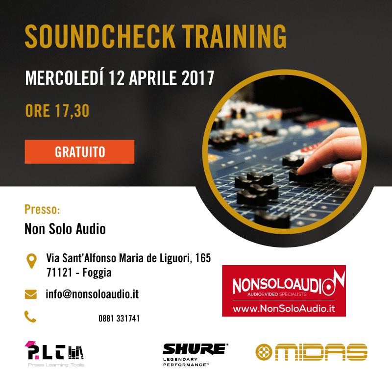 Soundcheck Training Tour – Tappa a Non Solo Audio (Foggia)
